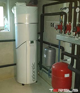 Toplotna črpalka zrak voda za sanitarno vodo