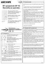 SP 16 beha navodila za uporabo