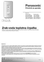 Priročnik za uporabo TČ panasonic